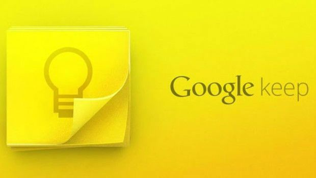 Google Keep: Application de prise de note Chrome