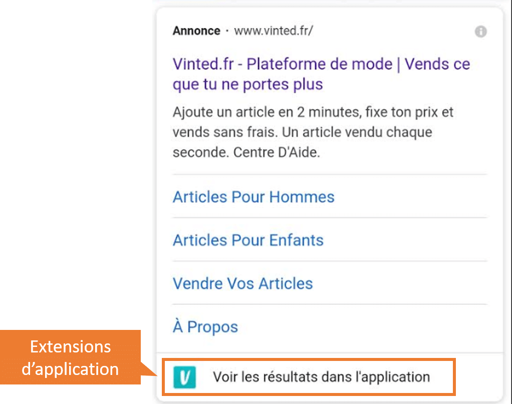 extensions application google ads
